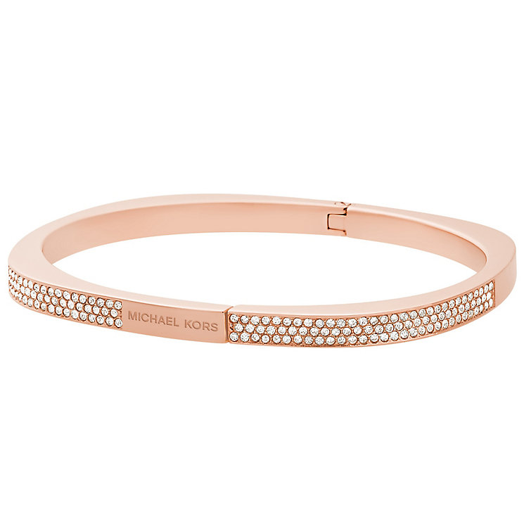 Michael Kors Rose Gold Tone Stone Set bangle - Product number 5073103