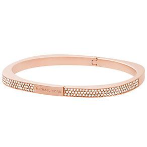 Michael Kors Rose Gold Tone Stone Set Bracelet - Product number 5073103