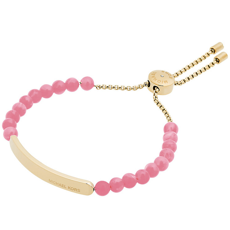 Michael Kors Gold Tone pink slider Bracelet - Product number 5073138