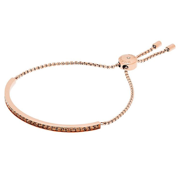 Michael Kors Rose Gold Tone Stone Set Bracelet - Product number 5073154