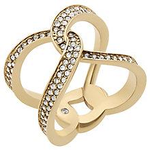 Michael Kors Gold Tone Stone Set Hinge Ring - Product number 5073200