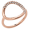 Michael Kors Rose Gold Tone Stone Set Ring - Product number 5073219