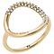 Michael Kors Gold Tone Stone Set Ring - Product number 5073227