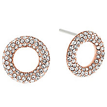 Michael Kors Rose Gold Tone Stone Set Earrings - Product number 5074134