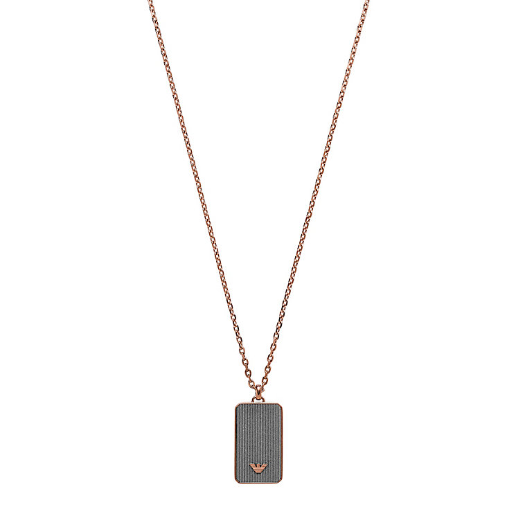 Emporio Armani Men's Rose Gold Tone Necklace - Product number 5074797