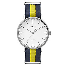 Timex Weekender Fairfield Blue & Yellow Nylon Strap Watch - Product number 5074894