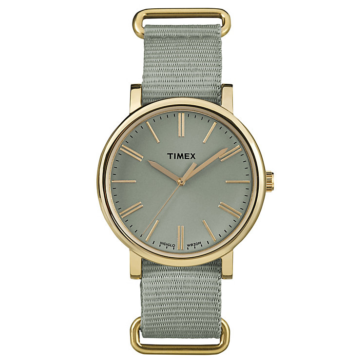 timex watches h samuel timex weekender fairfield green nylon strap watch product number 5074908