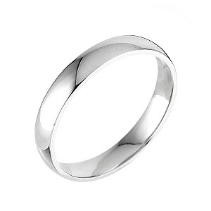 9ct white gold extra heavy 4mm court ring - Product number 5075246