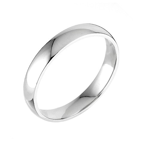 9ct white gold extra heavy 4mm court ring