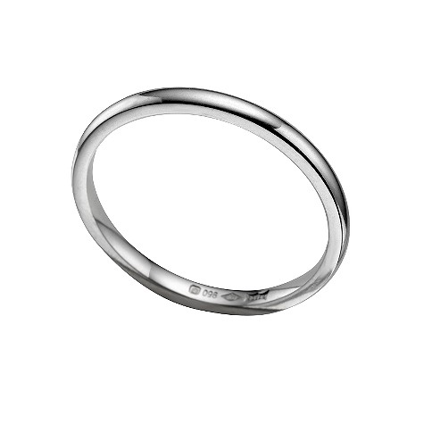 Platinum super heavy 2mm wedding ring