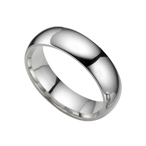 Platinum super heavy 6mm wedding ring