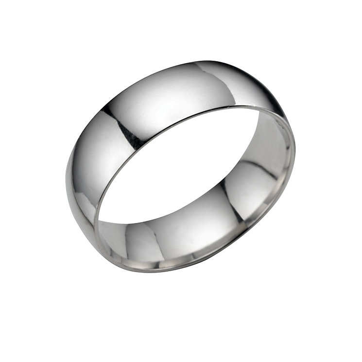 Platinum extra heavy 7mm court ring - Product number 5076846