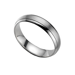Platinum 4mm court wedding ring - Product number 5077486