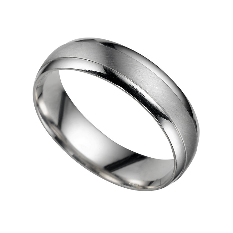 platinum 5mm court wedding ring ernest jones