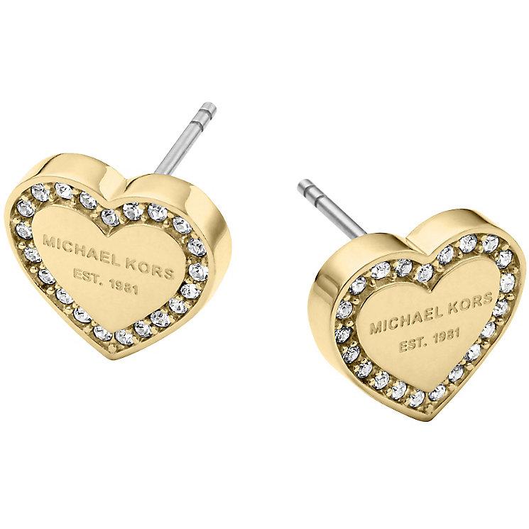 Michael Kors Gold Tone Stone Set Stud Earrings - Product number 5084849