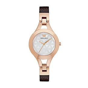 Emporio Armani Ladies' Rose Gold Tone Strap Watch - Product number 5085241