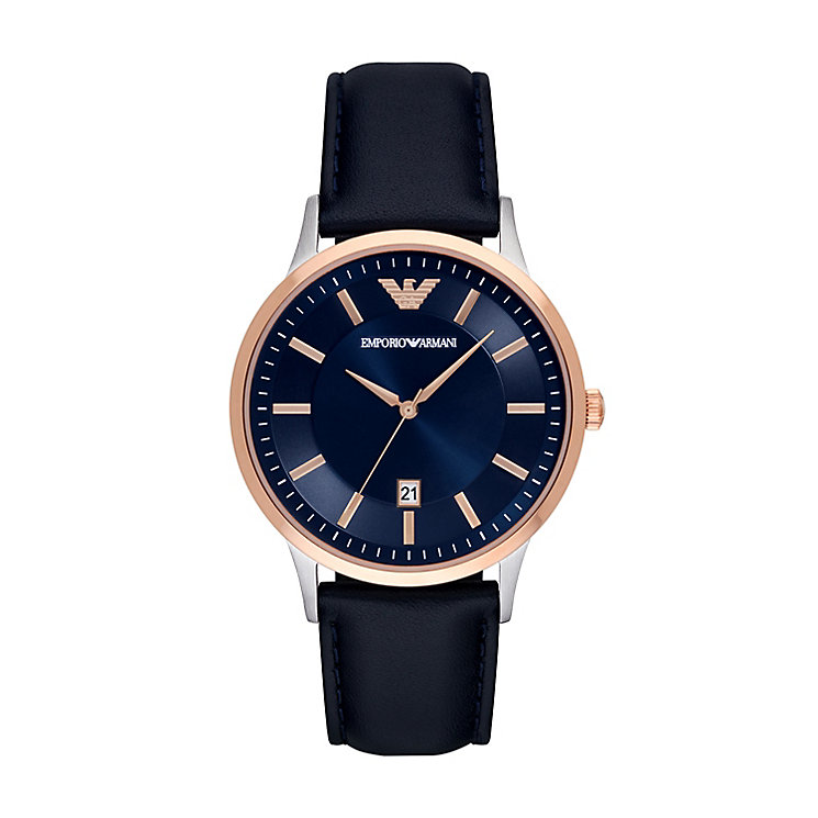Emporio Armani Men's Two Colour Strap Watch - Product number 5085365