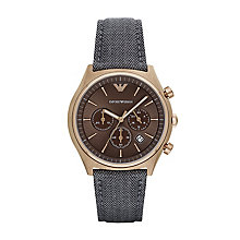 Emporio Armani Men's Rose Gold Plated Strap Watch - Product number 5085438