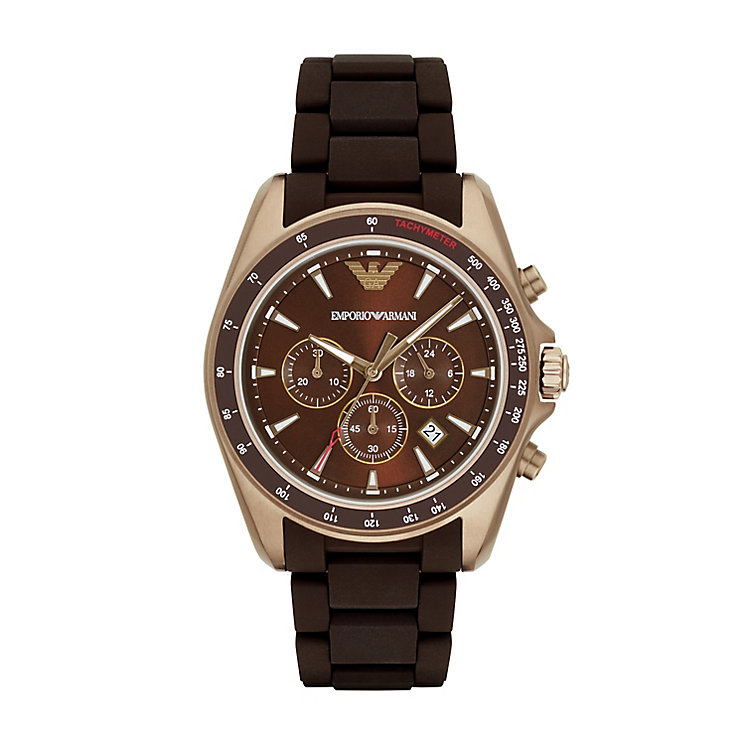 Emporio Armani Men's Rose Gold Tone Strap Watch - Product number 5085454