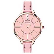 Sekonda Editions Ladies' Pink Leather Strap Watch - Product number 5086132