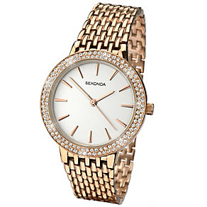 Sekonda Editions Ladies' Rose Gold-Plated Bracelet Watch - Product number 5086140