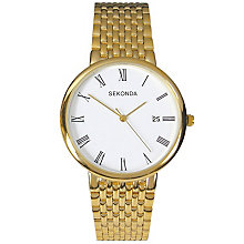 Sekonda Ladies' White Dial Gold-Plated Bracelet Watch - Product number 5086183