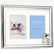 "New Baby Silver Tone Double Photo Frame 3"" x 4"" - Product number 5087570"