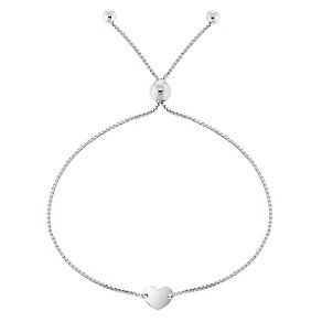 Silver Disc Heart Friendship Bracleet - Product number 5088321