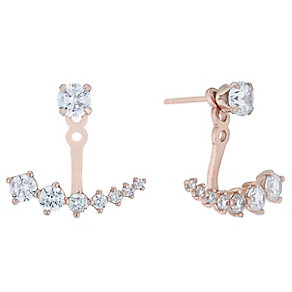 Silver Cubic Zirconia Jacket Earrings - Product number 5088348