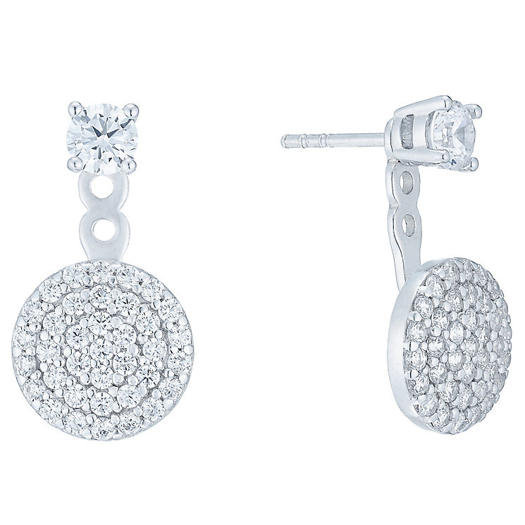 Silver Cubic Zirconia Jacket Earrings - Product number 5088356