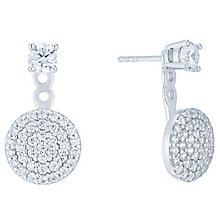 Rose Gold Plated Cubic Zirconia Jacket Earrings - Product number 5088356