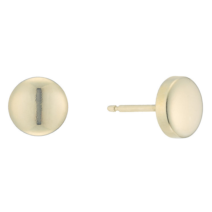 9ct Yellow Gold Round Stud Earrings - Product number 5088585