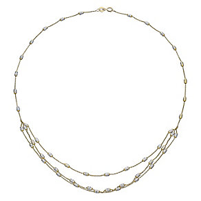 9ct Yellow Gold Triple Layer Necklace - Product number 5088720