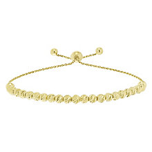 9ct Yellow Gold Large Bead Bolo Bracelet - Product number 5088798