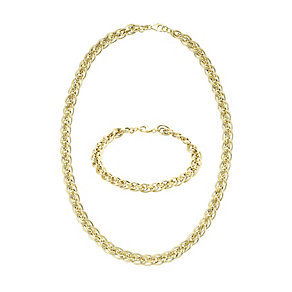 9ct Yellow Gold Necklace and Bracelet Set - Product number 5089999