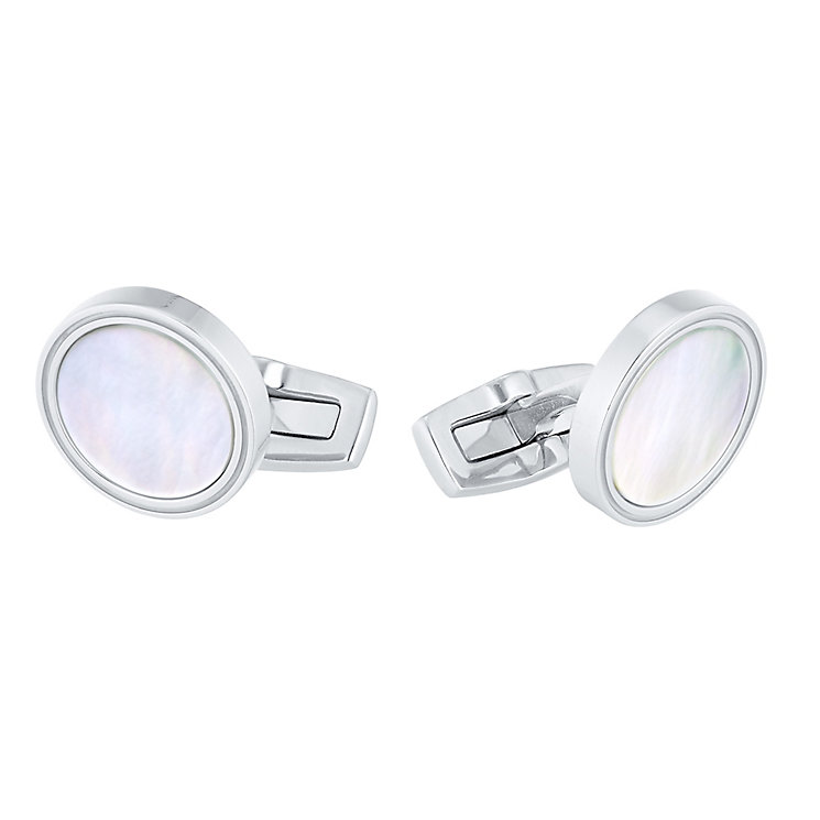 Hugo Boss Stainless Steel Mother Of Pearl Cufflinks - Product number 5092590