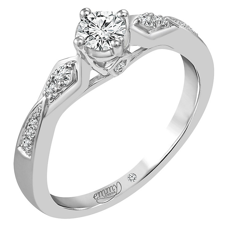Emmy London Palladium 1/3 Carat Diamond Solitaire Ring - Product number 5098602