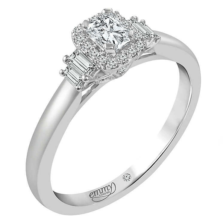 Emmy London 18ct White Gold 2/5ct Diamond Solitaire Ring - Product number 5098904