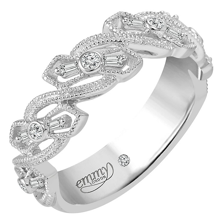 Emmy London 9ct White Gold 0.12 Carat Diamond Ring - Product number 5099161