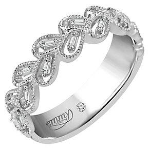 Emmy London Palladium 0.12 Carat Diamond Ring - Product number 5099307