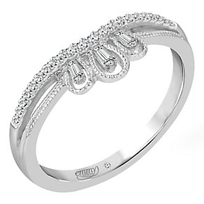 Emmy London 9ct White Gold 0.12 Carat Diamond Ring - Product number 5099447