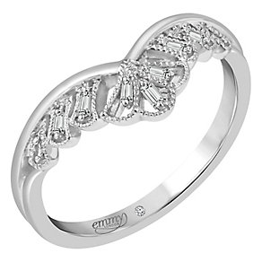 Emmy London Palladium Baguette Diamond Set Ring - Product number 5099587