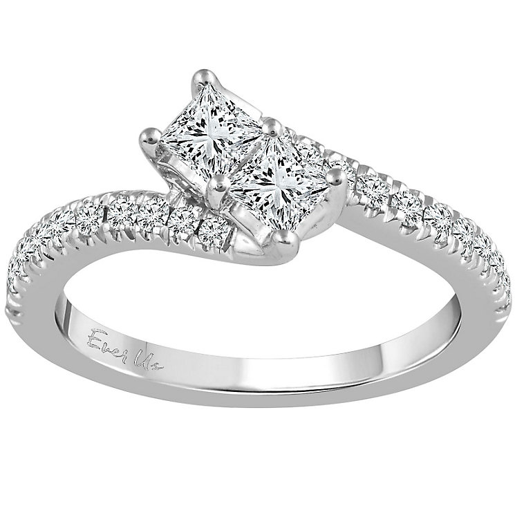 Ever Us 14ct White Gold 3/4 Carat Diamond 2 Stone Ring - Product number 5100208