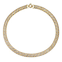 9ct Yellow Gold & Rhodium Necklace - Product number 5100496