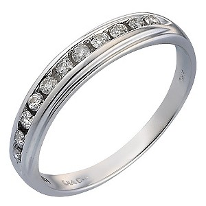 18ct White Gold 1/5 Carat Diamond Eternity Ring