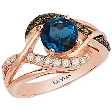 Le Vian 14ct Strawberry Gold London Blue Topaz Ring - Product number 5102057