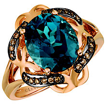 Le Vian 14ct Strawberry Gold London Blue Topaz Ring - Product number 5102227