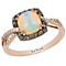 Le Vian 14ct Strawberry Gold Opal & Chocolate Diamond Ring - Product number 5102286