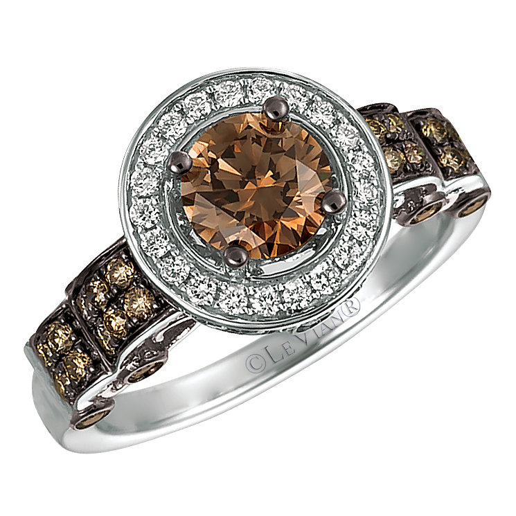 Le Vian 14ct Vanilla Gold Chocolate & Vanilla Diamond Ring - Product number 5102294