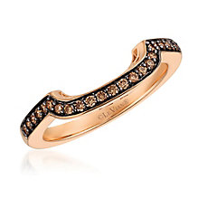 Le Vian 14ct Strawberry Gold Chocolate Diamond Band - Product number 5102316